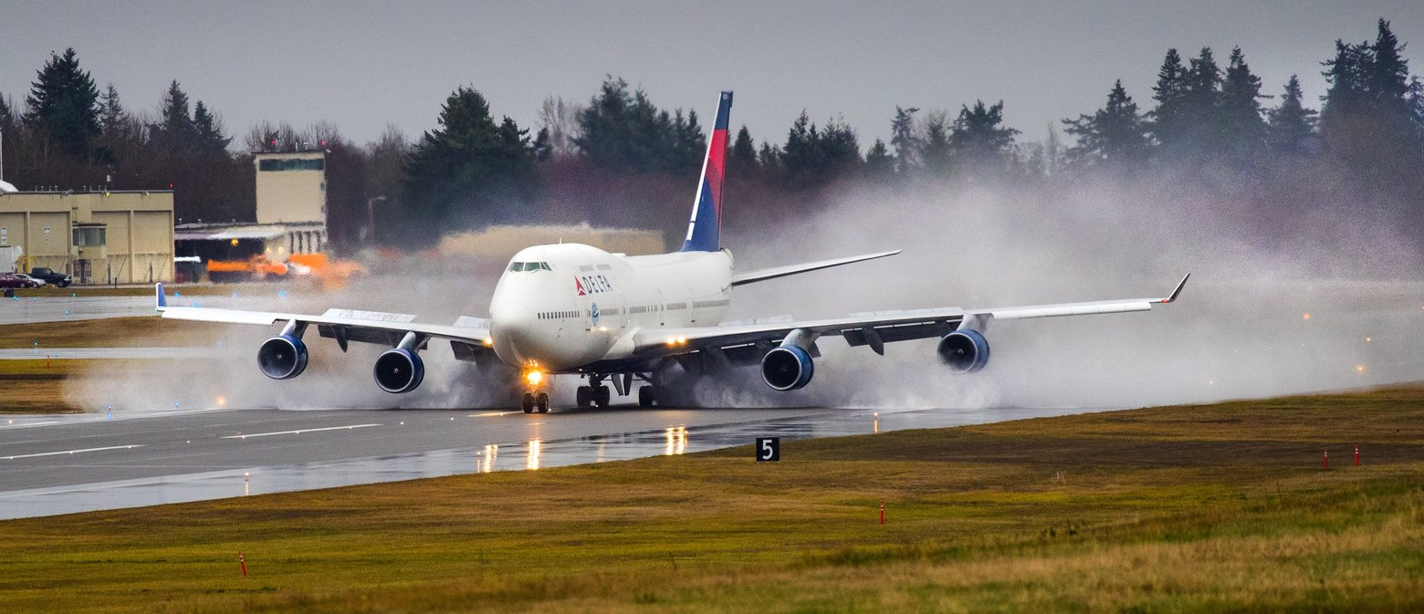 Delta Airlines Last 747 Visits Everett